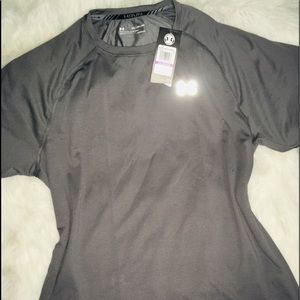 Under Armour Gray Steel men's Run Shirt SS sz XXL